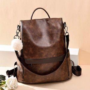 Handbags - Trendy Leather Backpack 🎒